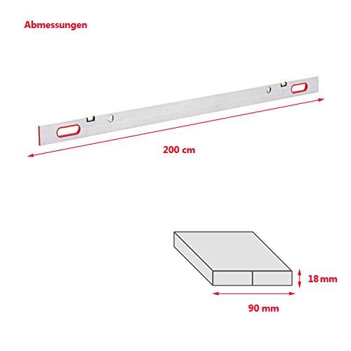 Richtlatte 200cm Setzlatte Alu Aluminium Estrichlatte Abziehlatte Richtscheid