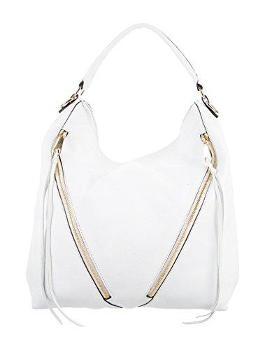 Rebecca Minkoff Moto Hobo Bag, White, One Size