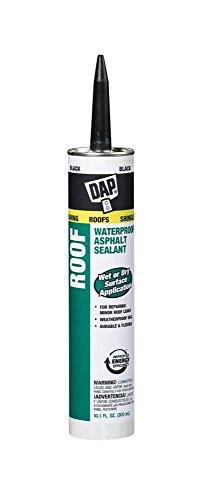 Asphalt Roof (Dap 18268 2 Pack 10.1 oz. Roof Waterproof Asphalt Filler and Sealant, Black)