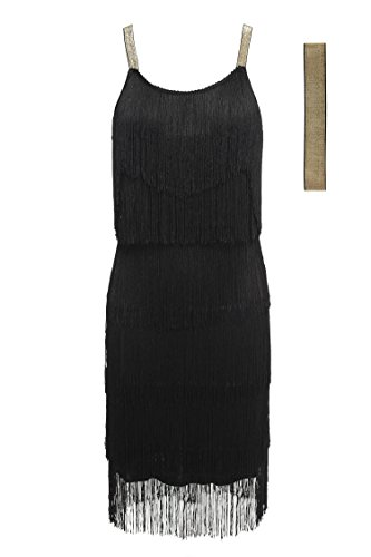 1920s Black Dress Party Sexy Summer Retro Sexy Women Women cindere Black Black White Gray Women Dress Dresses Tassel Dress 8UqnzZ