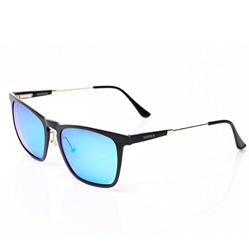 SOXICK Polarized Sunglasses for Men Women - Adjustable Metal Frame Driving Glasses