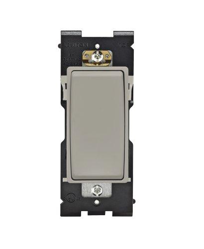Leviton RE153-WS Renu Switch for 3-Way Applications, 15A-120/277VAC, Wood Smoke