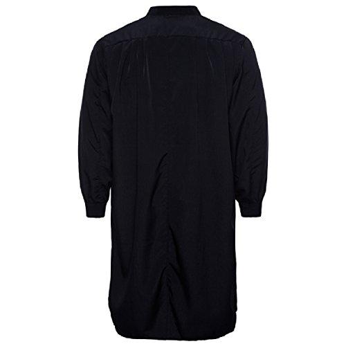 Abetteric Men's Pure Colour Cotton Islamic Muslim Dress Arab Middle Eastern Black L by Abetteric (Image #1)