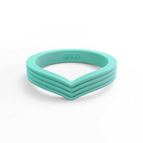 QALO Women's Pacific Opal Peak Stackable Silicone Ring Size 09