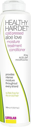 Lifelab Aloe Love Conditioner Healthy Hair Diet Moisture Treatment Sulfate Free for Dry or Dull Hair, 13.1 Fl Oz
