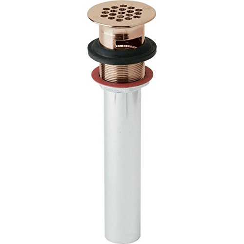 Elkay LK174-CU 1-1/2'' Drain Fitting Cuverro Antimicrobial Copper with Perforated Grid & Tailpiece
