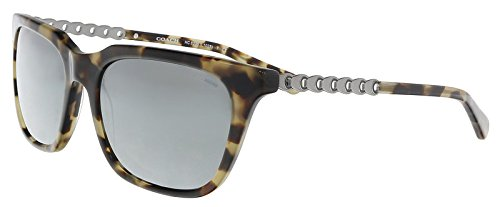 Coach Women's HC8236 Sunglasses Grey Green Tort/Gunmetal Mirror 56mm
