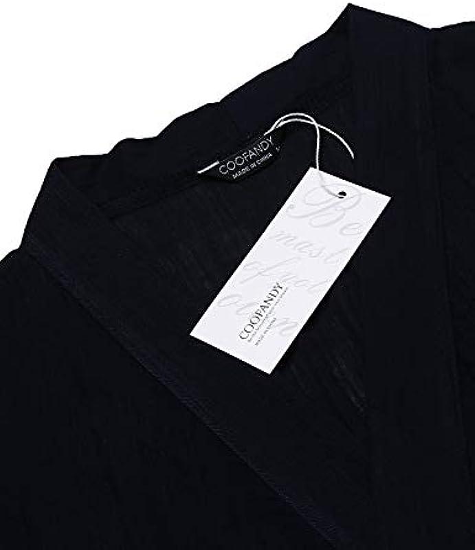Coofandy męska kurtka typu cardiganlanglength, lekka peleryna z otwartym przodem, z powłoką Cape Coat: Odzież
