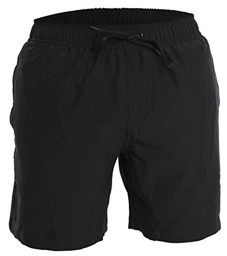 Men's Swim Trunks and Workout Shorts - L - Black - Perfect Swimsuit or Athletic Shorts for The Beach, Lifting, Running, Surfing, Pool, Gym. Boardshorts, Swimwear/Swim Suit for Adults, Men's Boys