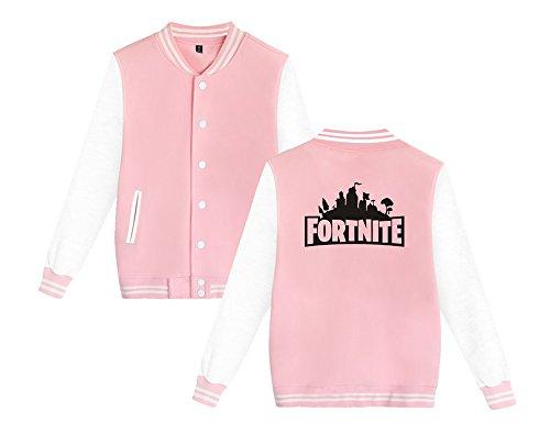 Donne Moda Comode Aivosen Unisex Pink7 E Sweatshirts Giacca Da Stampate Baseball Fortnite Casual Per Leggera Allentato Uomini ttB1wxvqZ