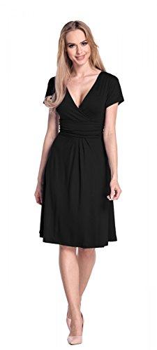 Glamour Empire Flattering Dress 108 - skater Mujer negro