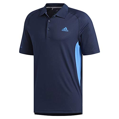 adidas Mens Ultimate Climacool Solid Polo Navy L ()