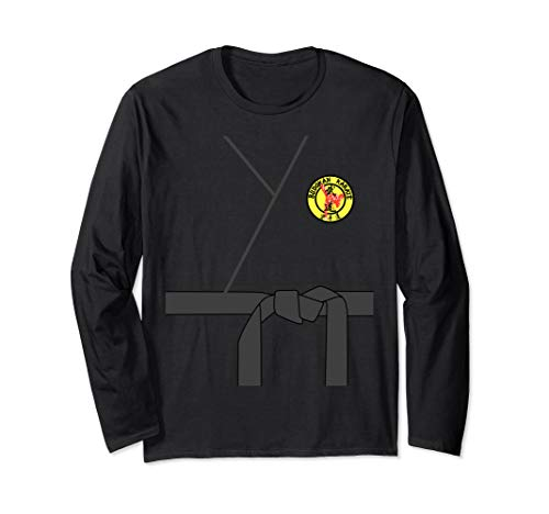 Black Belt Karate Halloween Costume Long Shirt Gi Uniform