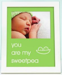 (Pearhead - sentiment frame - you are my sweetpea - green - 70175)