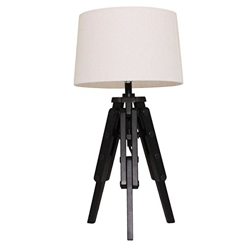 Lamp / Desk Lamp, Transitional Nolan Surveyor Tripod Desk Lamp 7867676 in Black Finish (24'' high x 11.75'' wide x 11.75'' long) by Coaster Home Furnishings
