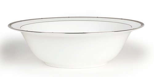 (Noritake Rochelle Platinum Round Vegetable Bowl, 9-1/2-inches, 32-ounces by Noritake)