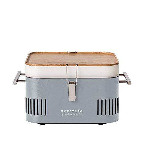Everdure Cube Portable Charcoal Grill (HBCUBESUS), Stone, 15-Inches