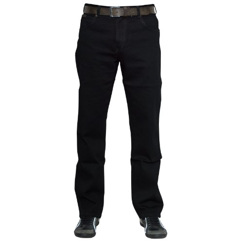 Fit Scuro Vestibilità Stretch Regolare Regular Nero Texas Uomo Wrangler UO6aHH