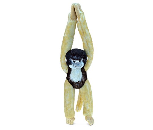 Puzzled Long Arm Hanging Squirrel Monkey Super-Soft Stuffed Plush Cuddly Animal Toy - Animals / Wild Animals / Zoo Animals Theme - 21 INCH - Unique Huggable Loveable New Friend - Squirrel Monkey Hanging