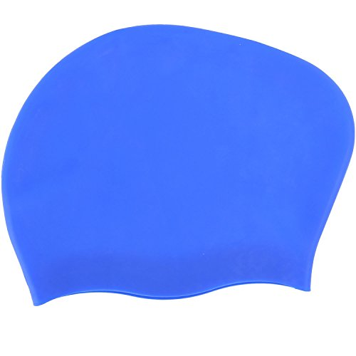 Actorstion Long Hair Swimming Cap   Specially Designed For Swimmers With Long  Thick  Or Curly Hair  Blue