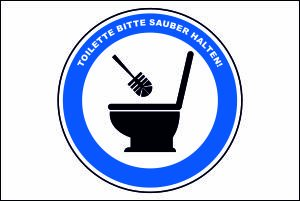 Schwabmarken Viele Verschiedene Toilettenhygiene Schilder 295cm