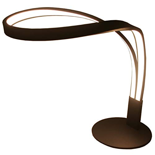 SkyeyArc Arc LED Table Lamp, Curved LED Desk Lamp, Contemporary Minimalist Lighting Design, Stepless Dimmable Light, Warm White Light, 9W, ()