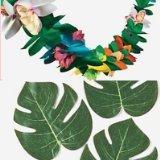 Luau Garland (Luau Lot - 12 Tropical Leaves and Tropical Tissue Garland Set)