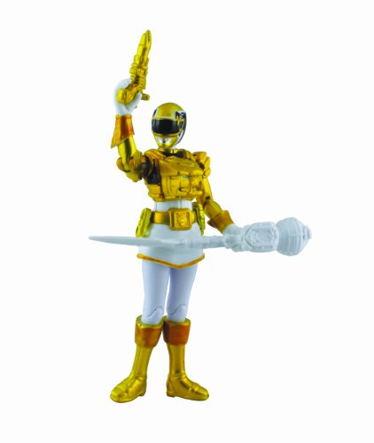 Power Rangers Megaforce Action Figure Metallic Force Ultra Yellow Ranger, 4 Inch