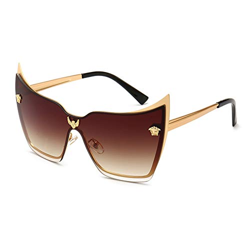 GAMT Cateye Sunglasses For Women Men Uv400 Protection Oversized Personality Medusa Eyeglasses Dark Brown