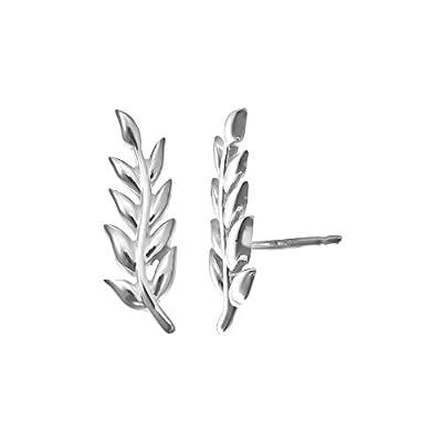 Boma Sterling Silver Leaf Ear Crawler for sale