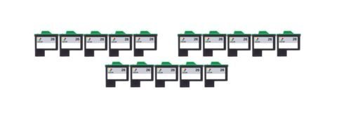 15/Pack 26 Color ink cartridges for Lexmark Compatible with: Color Jet Printer Z34 Z35 Z515 Z2600 Color Jet Printer i3 Z13 Z23 Z24 Z25 Printrio X1155 X1160 X1170 X1180 X1190 (Jet Printer Z13)
