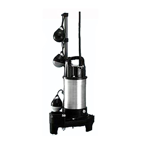 テラル水中ポンプ 50PLT-6.4S 単相100V 60Hz 自動交互型 小型汚水用排水水中ポンプ 樹脂製 B01AMZ17QS