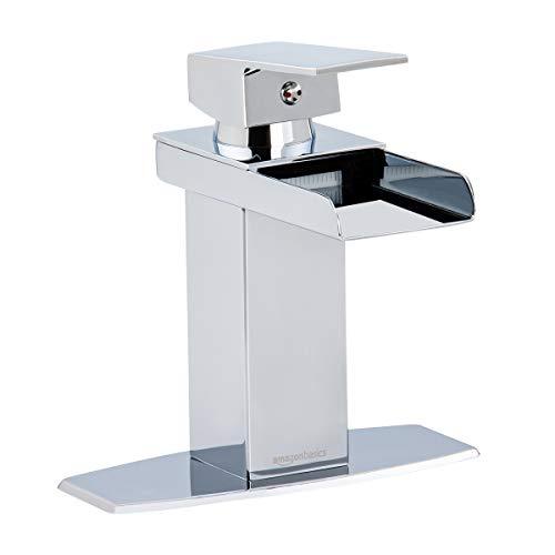 AmazonBasics Waterfall Bathroom Faucet, Polished Chrome