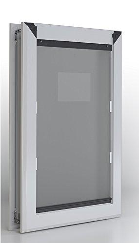 (Extra Large Aluminum Frame Dog Door - Dual Flap)