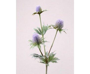 Distel Zweig, mit 3 Blüten, Länge ca. 40cm - künstlicher Distel Zweig Kunstpflanze Kunstblumen künstliche Blumen