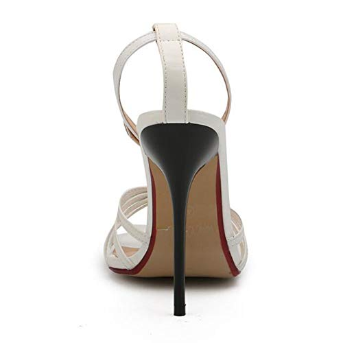 Da 50 White Tacco White Sandali Donna Ykang Prom Alto Sexy Piattaforma Party Scarpe fwqxgdW4