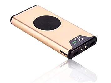 10000mAh Power Bank Cargador Inalámbrico Rápido Portátil Batería Externa Ultra Ligero Doble Puerto para Samsung Galaxy S9/S9 ...