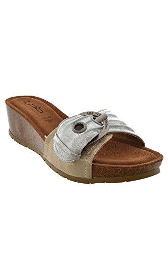 Sandale–Nu Füße die P Tites Bomben Nenuphar grau
