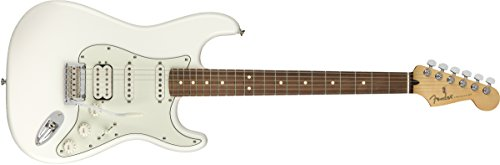 Fender Player Stratocaster HSS Electric Guitar - Pau Ferro Fingerboard - Polar (Hss Solid Body Electric Guitar)