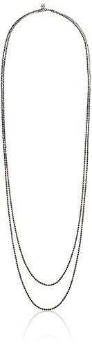Carolee Endless Possibilities Rhinestone Silver/Montana Strand Necklace, 72
