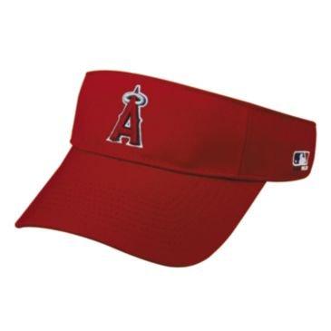 MLB ADULT Los Angeles ANGELS Home RED VISOR Adjustable Velcro TWILL