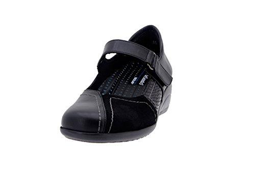 Chaussure Basse Confort Femme en Comfortables Casual Noir Cuir PieSanto Amples 1994 OYwdd