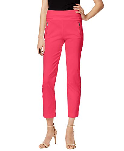 (INC International Concepts Women's Petite Cropped Skinny Pants (Polished Coral, 8 Petite))