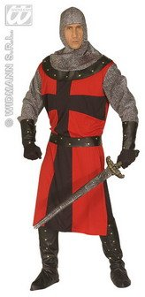 Mens Dark Age Knight Costume Extra Large Uk 46