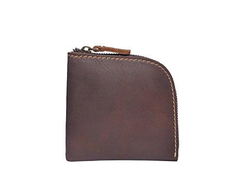 Portafoglio principali Retro metallo borse mano Men pelle Holder in a Le Fashion in rrqUwZ