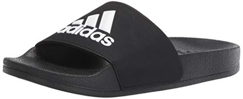 adidas Unisex Adilette Shower, White/Black, 12K M US Little Kid