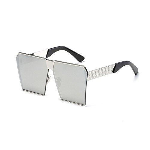 Hombre sol Vendimia Mujer Conducción Gafas o Cuadrado Blanco Claro Gafas Metal y Marco de Hombre Pescar Deylaying de UV400 Gafas plateado sol Mujer EnTRYqqOI