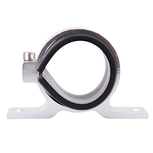 EVIL ENERGY 50mm car Oil/Fuel/Gas Pump Mounting Bracket Single Filter Clamp Cradle Silver