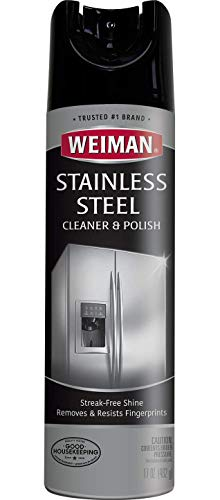 Weiman Stainless Steel Cleaner & Polish Aerosol, 17 fl oz
