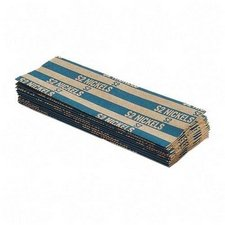 Flat Coin Wrappers, for Nickels, 1000/BX, Blue (MMF216020008DTOP)